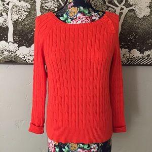 St. John's Bay Cable Knit Orange Sweater